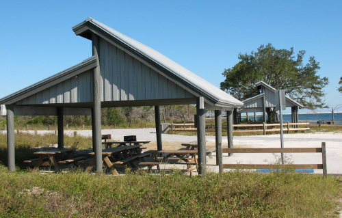 Picnic pavilions at the ramp