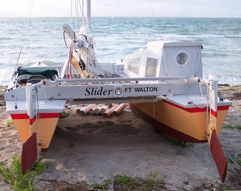 Slider on beach 1