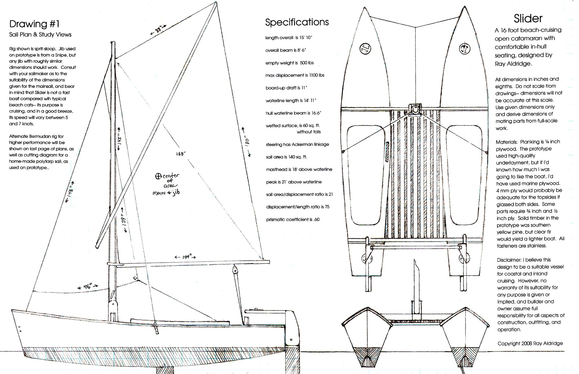 Birdwing double dory catamaran