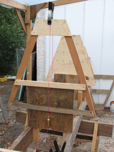 Plumb frame on strongback