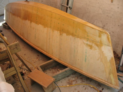 hull glassed to waterline